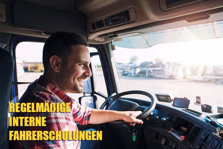 Regelmäßige interne Fahrerschulungen
